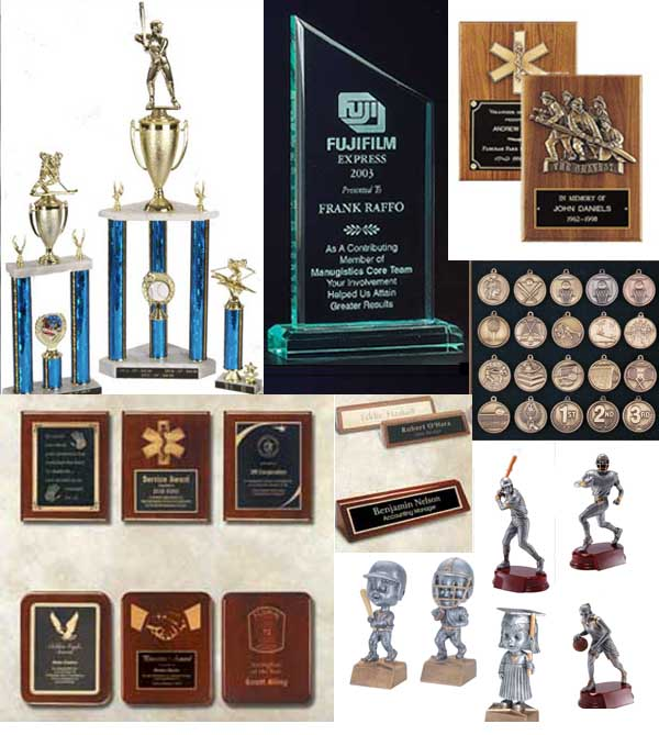 trophies, plaques, awards